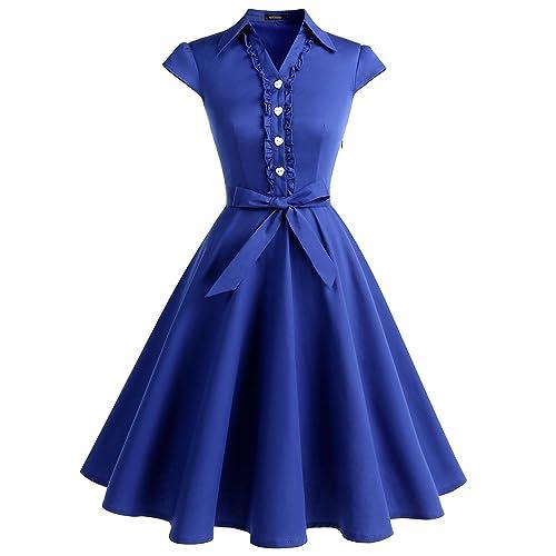 Wedtrend Women's 1950s Retro Rockabilly Dress Cap Sleeve Vintage Swing Dress