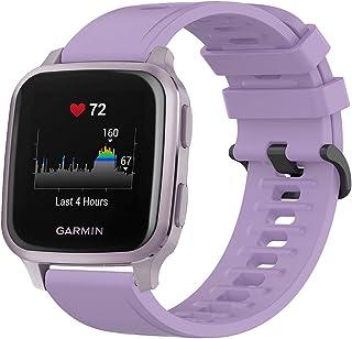 Siliconen Band Strap Quick Release Horlogeband Armband Compatibel met Garmin Venu Sq, Venu voor Mannen Vrouwen Vervanging ...