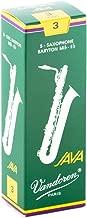 Vandoren SR343 Bari Sax JAVA Reeds Strength 3; Box of 5