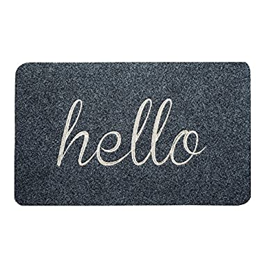 BIGA Front Welcome Entrance Doormat, HELLO Funny Door Mat for Indoor/Outdoor, Entry, Garage, Patio, High Traffic Areas, Shoe rugs.