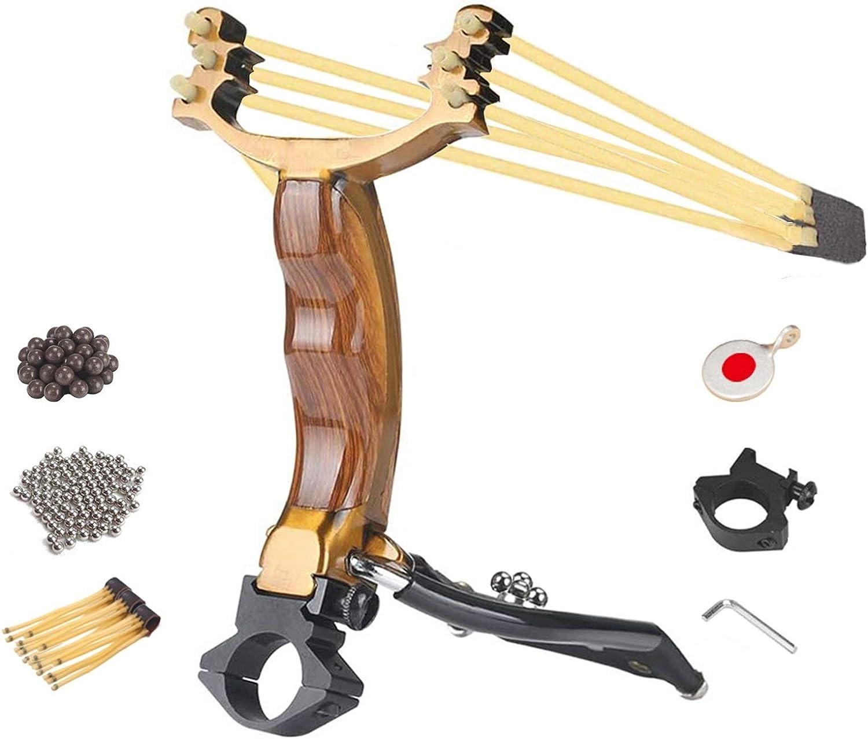 ALPEKE Professional Slingshot Set Large discharge sale Hunting Cheap bargain Slingshots Wrist for