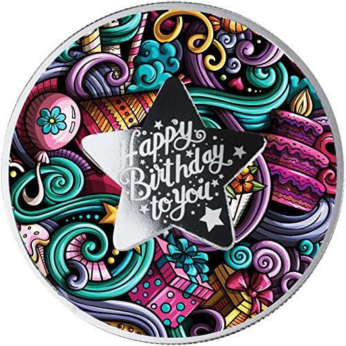Power Coin Happy Birthday Cumpleanos Moneda Plata 500 Francos Cameroon 2021