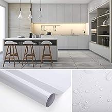 KINLO Pegatina para Muebles, Engomada Autoadhesiva de PVC para Decorar y Proteger, Pegatina Papel Rollo para Muebles/Cocina/Baño, a Prueba de Agua/Moho,0.61*5M per Rollo