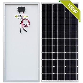 Newpowa 100 Watt Monocrystalline 100W 12V Solar Panel High Efficiency Mono Module RV Marine Boat Off Grid