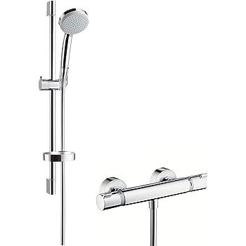 Hansgrohe 27032000 Croma 100 Vario Set de ducha con termostato y ...