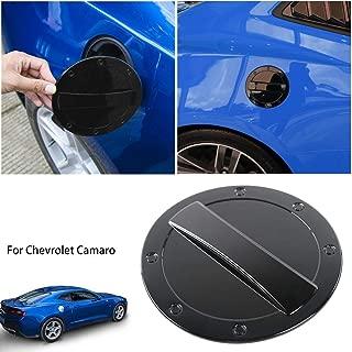 Savadicar Gas Cap Cover Fuel Tank Door Exterior Trim Accessories for 2016+ 6th Gen Chevrolet Camaro, Non Fading, Powder Coated ABS, Black