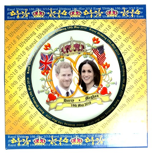Plates Royal Wedding Decorative Porcelain Detailing H R H Prince Henry of Wales (Harry) and Meghan Markle (Medium 15 cm)