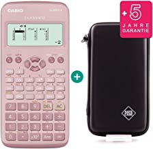 Casio FX 83 GT X Pink + Protective Case + Prime Warranty