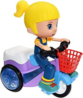 Juesi Children Mini Stunt Car, Electric Tricycle Toy, 360 Degree Rotation Three Wheeled Bicycle with Music Light Effects, Gift for Kids
