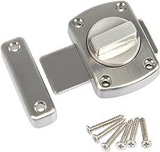 FOCCTS deurgrendel, diefstalbeveiliging, geborsteld roestvrij staal, deurslot voor badkamerdeur, kastdeur, te gebruiken op...