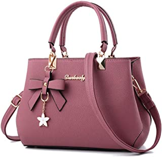 Women Handbags Tassel PU Leather Bag Top-handle Designer Luxury Crossbody Bag Shoulder Bag Lady Simple Style Hand Bags