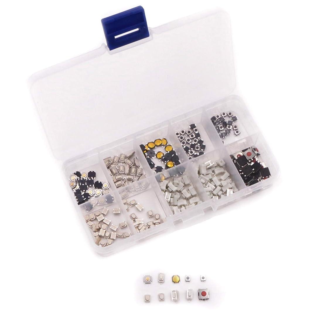 不倫キリスト眼RETYLY 250個10種類触覚プッシュボタンプレススイッチリモートキーボタンマイクロスイッチ