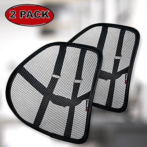 Lumbar Support with Double-Layer Mesh, Mesh Back Support Cushion for Car Seat Office Chair by...