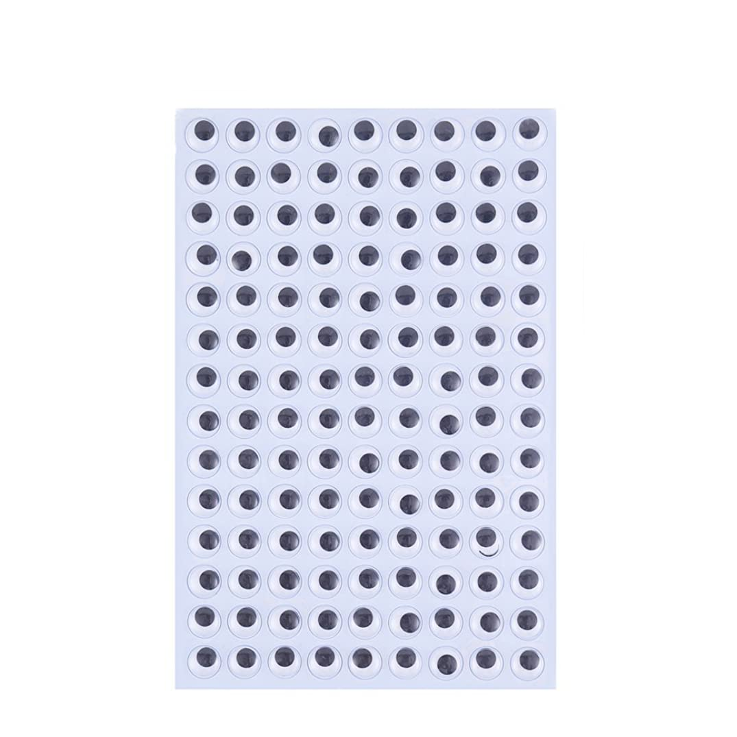 DECORA 12mm Plastic Wiggle Eyes Self-Adhesive Googly Eyes for Scrapbooking DIY Crafts