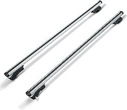 Homcom Baca Barras de Techo Aluminio Portaequipajes Adaptable hasta 120cm Coche Bici ski Equipaje