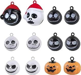 Zafina Jack Skellington Halloween Bells Nightmare Before Christmas Pumpkin Copper Bell Pet Collar Ghost Skull Bells Pet Puppy Kitten Cat Decorations Pendants