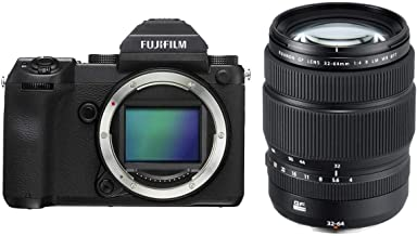 Fujifilm GFX 50S 51.4MP Medium Format Mirrorless Camera (Body Only) with Electronic Viewfinder, Full HD 1080p Video GF 32-...