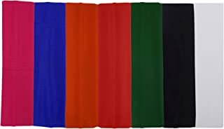 Confidence Head Band For Women And Girls Yoga Hair Band Headband For Gym Workout Set Of 7 Multicolor Pack Of 1