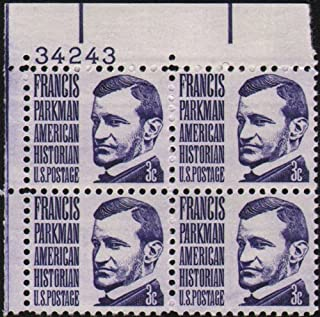 1967 FRANCIS PARKMAN ~ HISTORIAN #1281 Plate Block of 4 x 3 cents US Postage Stamps