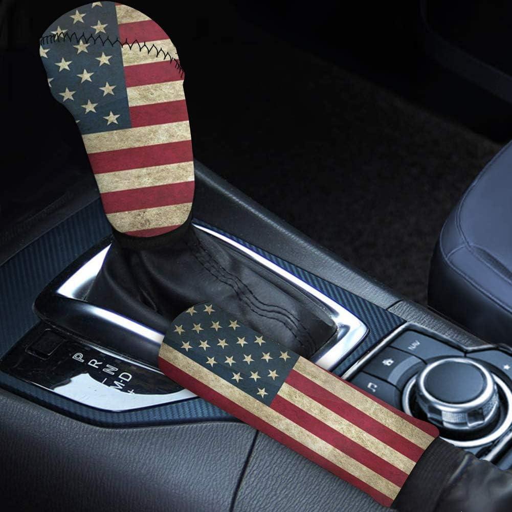 Max 57% OFF GLENLCWE Vintage American Flag Print Car Cheap mail order sales Univeral 2Pcs Handbrake