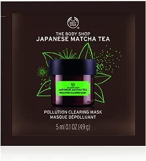The Body Shop Japanese Matcha Tea Pollution Clearing Mask, Single Use Expert Facial Mask 100% Vegan, 0.2 Ounce