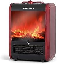 Orbegozo CM 9015 Chimenea Eléctrica, 1500 W, 2 Posiciones de Calor, Sistema Antivuelco, Protección contra Sobrecalentamiento, Efecto Fuego Real