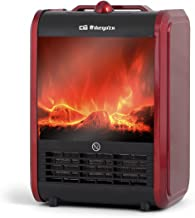 Orbegozo CM 9015 Chimenea, 1500 W, Rojo y negro