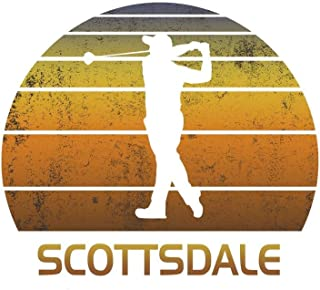 Scottsdale: Arizona Golf Journal With Lined College Ruled Paper For Golfers & Fans. Vintage Sunset Golfing Notebook & Diary. Notepad To Log Golf Course Notes. [Idioma Inglés]