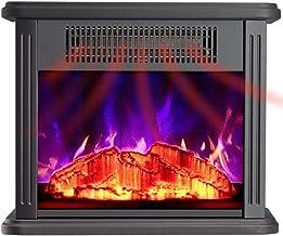 Chimenea eléctrica de calefacción simple, decoración de madera maciza, decoración de TV, gabinete, estufa de calefacción, núcleo de chimenea, decoración, calefacción, chimenea eléctrica, color blanco