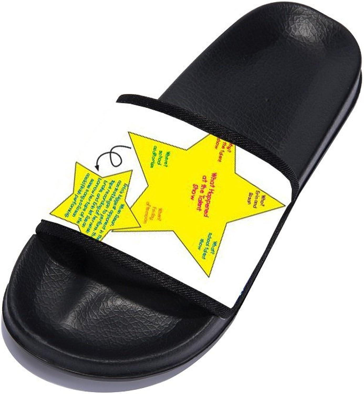 ERI Women Anti-Slip Bath Slippers Bathroom Slippers Shower shoes Gym Slippers Black