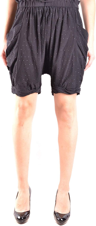 Pinko Women's MCBI31044 Black Silk Shorts
