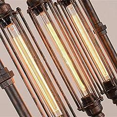 HIMA Industrial Pipe Chandelier Retro Metal Pendant Light for Bar,Club,Restaurant E27 #5