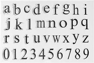 Tampons en silicone transparents, Alphabet DIY en silicone transparent pour scrapbooking, scrapbooking, scrapbooking, déco...
