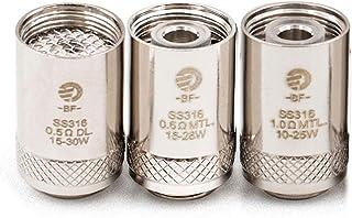 BF SS316 0.5ohm/0.6ohm/1.0ohm ジョイテック Joyetech BF 交換用コイル CUBIS/eGO AIO/Cuboid Mini アドマイザー 電子タバコ用(5pcs/pack) (BF SS316-0.6oh...