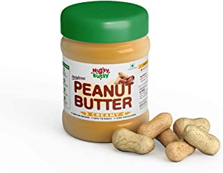 Nutsy Butsy Natural Peanut Butter Creamy | Peanut Butter 340g(Unsweetened / Gluten Free / Non-GMO / Vegan/ High Protein wi...