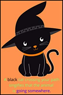 A black cat crossing your part signifies that the animals is going somewher