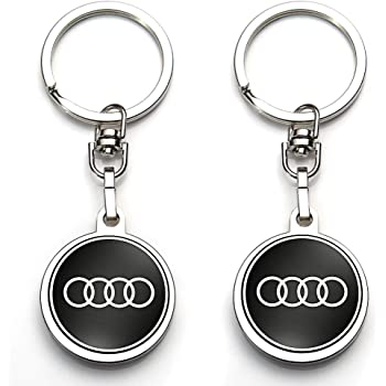 ontto Key Fob Cover Compatible with Audi Smart Remote Key Case Skin Protector Metal Leather Key Shell Jacket Keychain Keyring for Audi A1 A3 A4 Q5 Q7 S5 S7 RS Blue