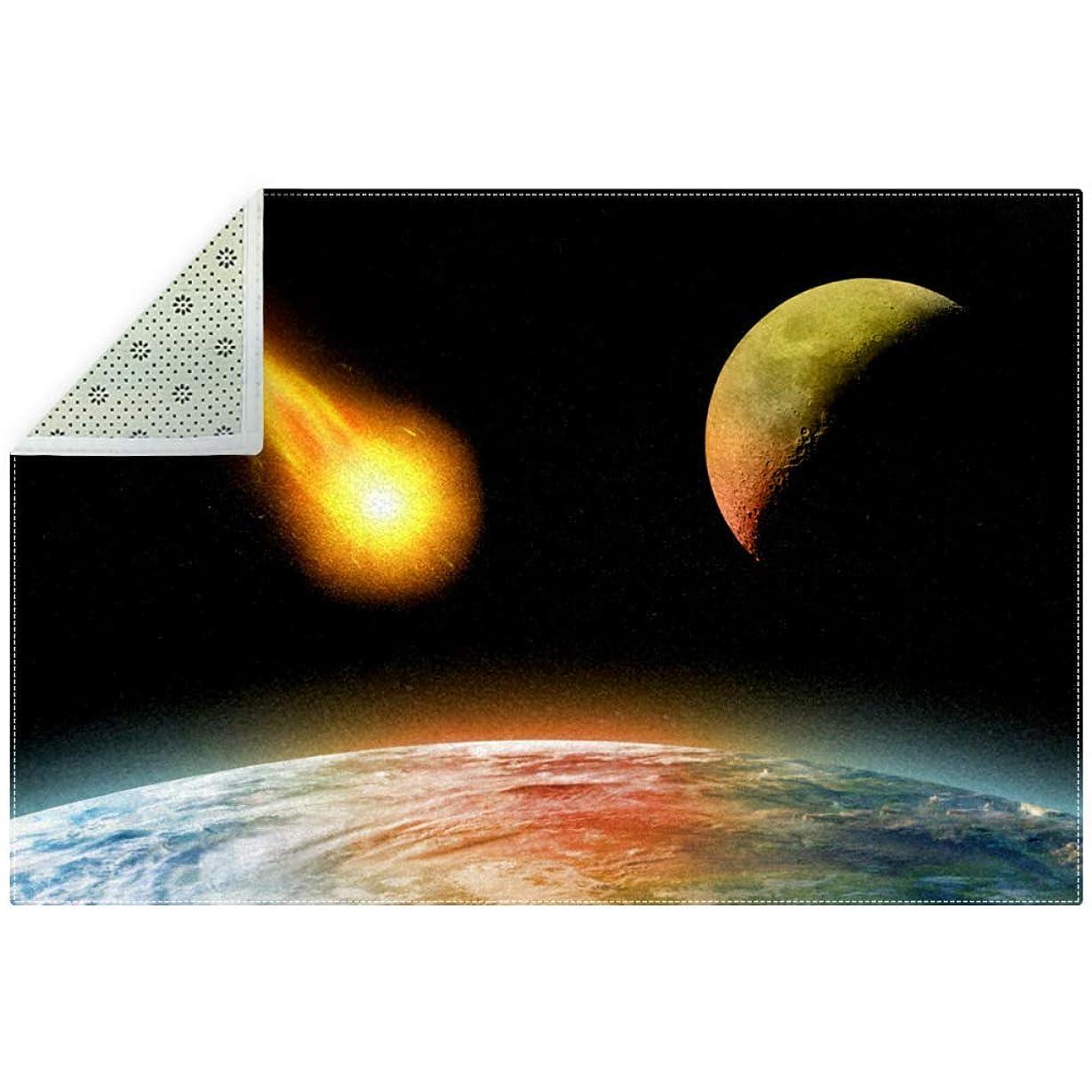ペインティングラジウム怪物AyuStyle ラグ カーペット ラグマット フロアマット 180×120CM マット 長方形 絨毯 リビング 床暖房対応 こたつ敷き 滑り止め付 星空 夜空 宇宙