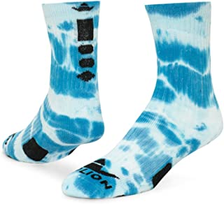 Maxim Tie Dye Athletic Socks (Neon Blue/White - Large)
