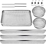 RV Furnace Bug Screen,RV Water Heater Cover,Furnace Vent Screen, Flying Insect Screen for RV Refrigerator Vents 20' x 1-1/2' & 2.8''x1.3'' & 8.5' x 6' x 1.3' RV Furnace Screen(6-Piece Set)