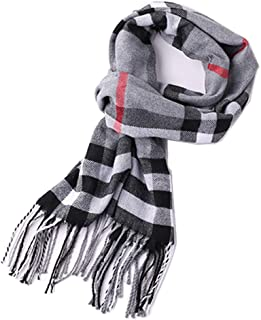 Men's Scarves Hot Sale Scarf Classic Arrival Winter Plaid Scarf Tassel Edge Soft Warm Scarf
