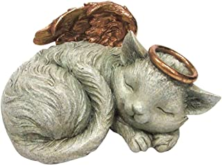 Pacific Trading, Pet Memorial Angel Cat Sleeping Cremation Urn, Memorial Statue Bottom Load, 30 Cubic Inch