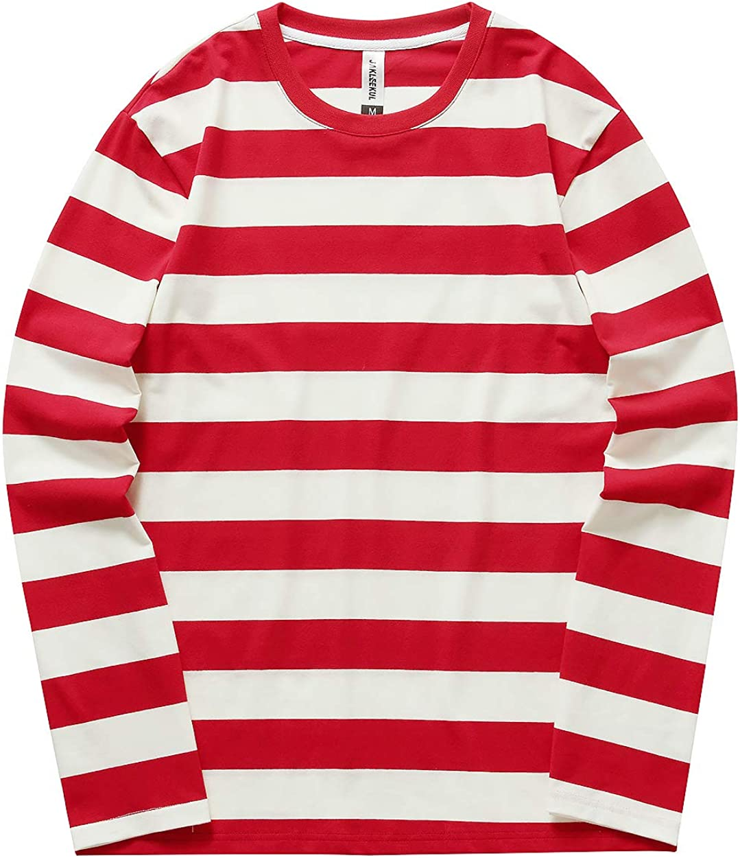 Syrirotus Year-end annual account Men's T-Shirt Casual Crewneck Long-awaited T-Shirts Basic Striped P