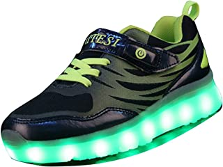 Gaorui Boys' Fashion Led Light Up Shoes USB Charge Sports Flashing Sneakers