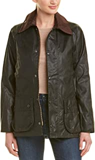 Barbour Womens Classic Bedale Wax Jacket, 30, Black