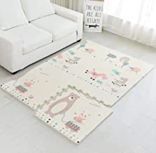 Infant Shining Baby Puzzle Mat Thick 2cm XPE Foam Floor Play Game Mat for Kids Children 6PCS and 10 Borders Cloud