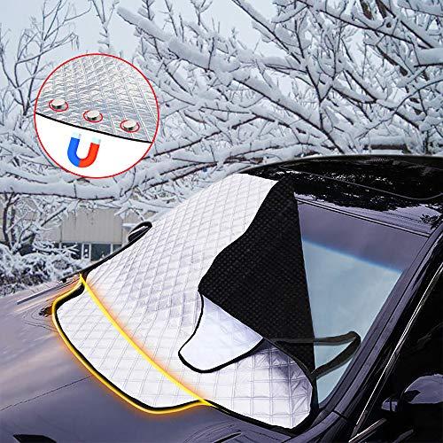 FREESOO Pare-Brise Couverture de Voiture Imperméable Repliable avec Magnétiques Protection pour Pare-Soleil Anti Givre Pare-Brise Avant pour Voiture SUV Anti UV Pluie et Neige 190cm*123 * 150cm