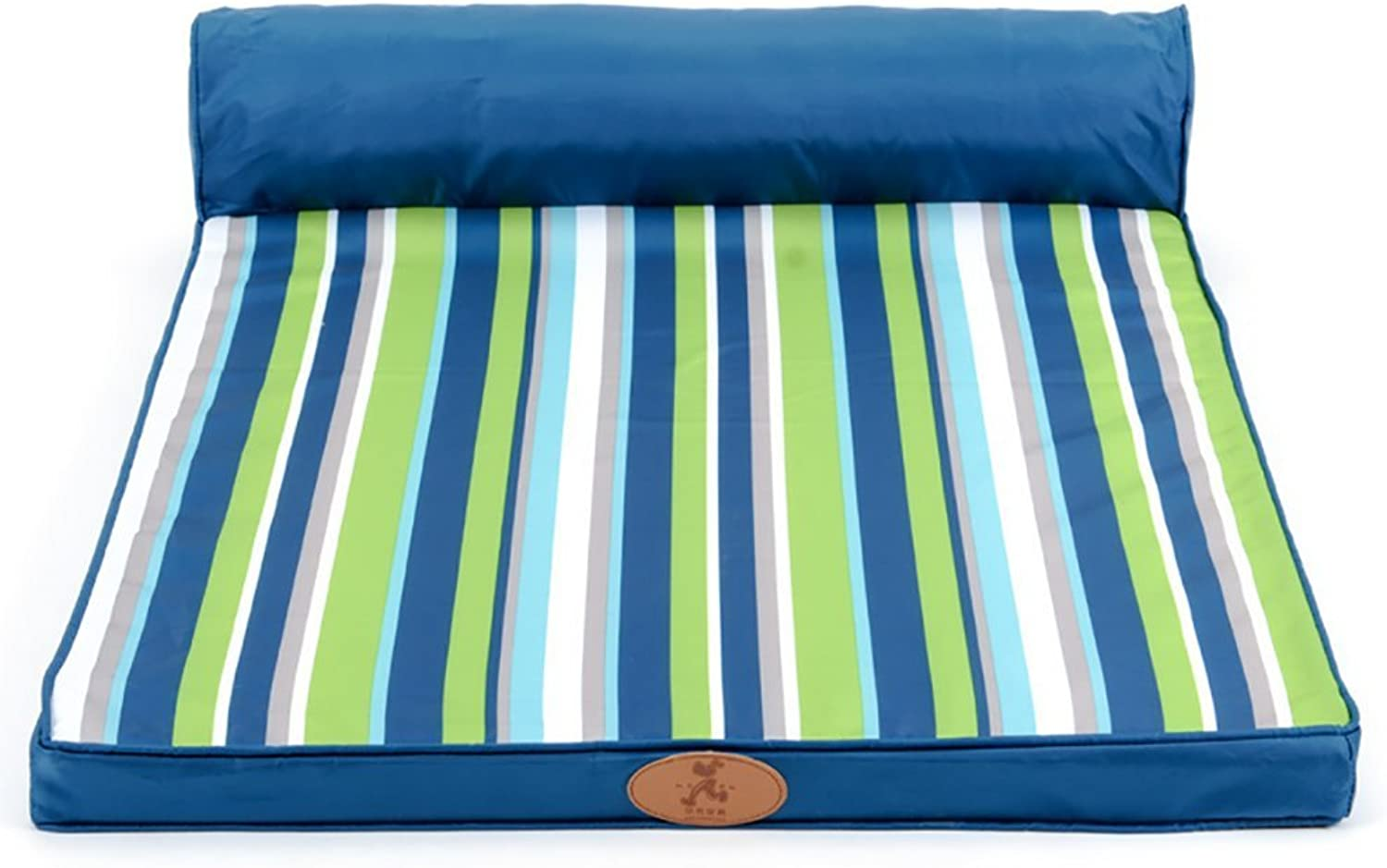 BMDHA Dog Bed Summer Medium and Small Dogs Dog Mattress Removable Easy to Clean 100× 80× 20Cm