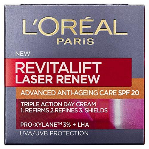 Crema facial antiedad L\'Oreal París Revitalift Laser Renew, con SPF 20, 50ml