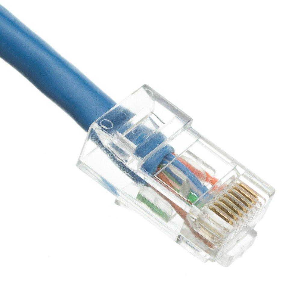 Recommendation Max 44% OFF ENDIZE 20 Pack Cat5e Ethernet Patch Blue Cable Snag - Feet 50